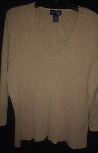 Venezia Gold Glitter Top Sz 26/28 Plus